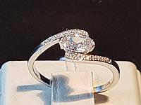 Серебряное кольцо с фианитами. Артикул 11006р, фото 1
