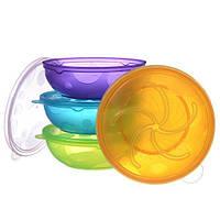 Munchkin, Набор детской пластиковой посуды из 8 контейнеров (от 6 месяцев)