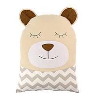 Бортик-подушка в кроватку - Мишка