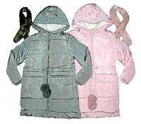 Зимние пальто-куртки для девочек на холлофайбере и меховой подкладке из Венгрии  6,8,10,12,14,16 лет.