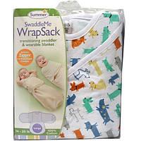 Summer Infant, Конверт для пеленания SwaddleMe WrapSack, 14-20 фунтов, большой