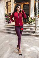 Женская легкая куртка на молнии с цветком, фото 1
