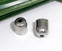 Фурнитура для маскировки узлов шнура / Шапочка для Бусин, Цвет: Метал  6 x 5 mm (годен для 4 mm)