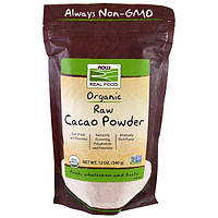 Now Foods, Органический сырой какао-порошок, 12 унций (340 г)