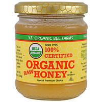 Y.S. Eco Bee Farms, 100% сертифицированный неочищенный мед органического происхождения, 226 г (8,0 унций)