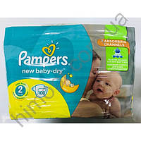 Подгузники «Pampers Active Baby-Dry  гиант пак 2» 100шт