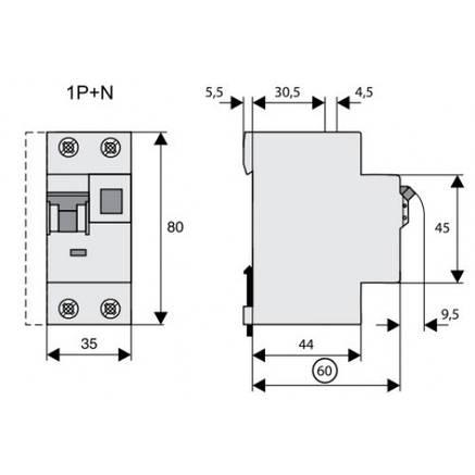 Пристрій захисного відключення PF4-40/2/003 (293169) Eaton, фото 2
