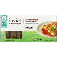 Jovial, Паста из органического коричневого риса, Manicotti, 7 унц. (198 г)