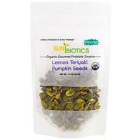 Sunbiotics, Органические закуски для гурманов, семена тыквы, лимонный терияки, 42,5 г (1,5 унции)