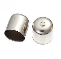 Фурнитура для маскировки узлов шнура / Шапочка для Бусин, Цвет: Серебро, 10x11mm (годен для 9 mm)