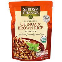 Seeds of Change, Organic, киноа и бурый рис, с чесноком, 8.5 унций (240 г)