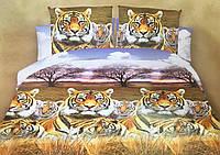 Двуспальный комплект постельного белья евро 200*220 хлопок  (8057) TM KRISPOL Украина