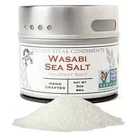 Gustus Vitae, Соль для гурманов, морская соль васаби, 3 унции (86 г)