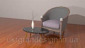 Овальный столик