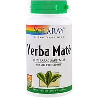 Solaray, Мате ерба, 450 мг, 100 легко глотаемых капсул