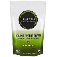Javazen, Organic Ground Coffee with Matcha & Cacao, Balance, 9 oz (255 g)