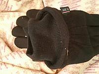 Мужские перчатки флисовые на меху зимние двойные