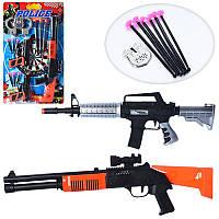 Детский набор полицейского 2806-2808,автомат, пистолет, присоски, мишень, 2 вида, на листе