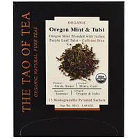 The Tao of Tea, Органический чай, орегонская мята и тулси, 15 пирамидок, 1,05 унц. (30 г)