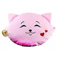 """Мягкая игрушка """"Подушка"""" (Кошка-смайл: влюблен) ПД-0202"""