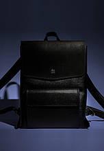 Рюкзак женский кожаный городской. Цвет черный