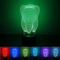Настольная 3D лампа в форме зуба