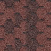 Битумная черепица мозаика красная ЭКО