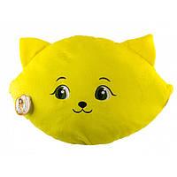 """Мягкая игрушка """"Подушка"""" (Кошка-смайл: счастлив) ПД-0201"""
