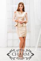 Нежное платье с баской, фото 2