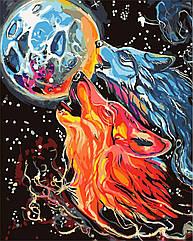 Картина по номерам Космические волки худ. Кэтти Липскомб (KHO4007) Идейка 40 х 50 см