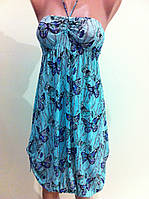 Платье-туника  из принтованной сетки.