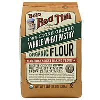 Bob's Red Mill, Органическая мука из цельной пшеницы для кондитерских изделий 48 унции (1.36 кг)