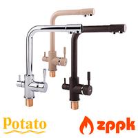Смеситель для кухни с подключением к фильтру Potato P4098