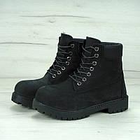 Ботинки Timberland 6 inch Black High Quality мужские тимберленд (С Мехом)