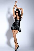Эротическое платье с трусиками из латекса, O/S