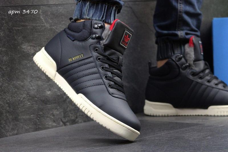 Чоловічі зимові кросівки Adidas Blauvelt (3470) темно- сині  28dfa8f974c4a