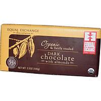 Equal Exchange, Органический темный шоколад с миндалем, 3,5 унций (100 г)