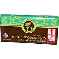 Equal Exchange, Органический мятный шоколад, 3.5 унций (100 г)