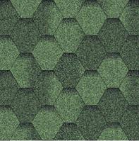 Черепица битумная Мозаика Зеленая ЭКО