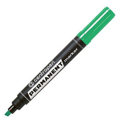 Маркер перманентний Centropen 8576, 1-4,6 мм, клиноподобный наконечник, зелений, фото 2