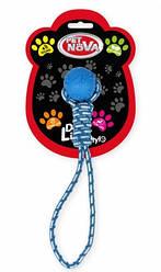 Іграшка для собак Кулю на мотузці з ручкою Pet Nova 40 см синій
