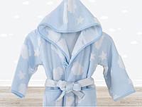 Халат детский Irya Cloud голубой на 7-8 лет