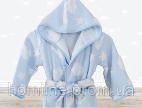 Халат детский Irya Cloud голубой на 5-6 лет