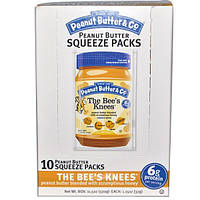Peanut Butter & Co., Squeeze Packs, The Bee's Knees Peanut Butter, 10 Per Box, 1.15 oz (32 g) Each