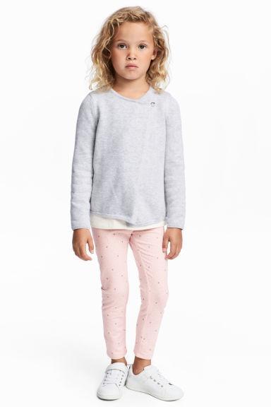 Розовые леггинсы на девочку 9-10 лет H&M Швеция Размер 140