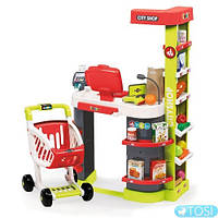 Магазин супермаркет с тележкой Smoby 350211 City Shop