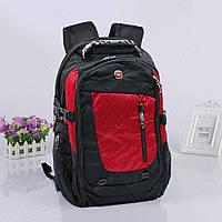 Рюкзак городской высокого качества 6011, черно-красный