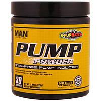 MAN Sports, Порошок для накачки, помощь в накачивании мышц без стимуляторов, с кислинкой, 7,94 унций (225 г)