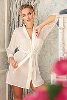 Белый шифоновый халат