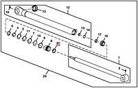 Манжета 40х48х8, 4 (Corteco) John Deere, код запчасти H156587.P
